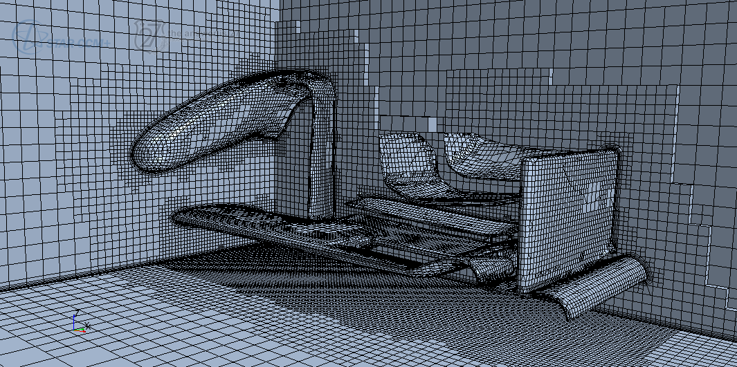 Figure 1. Mesh for the intermediate grid with ~0.9M cells.