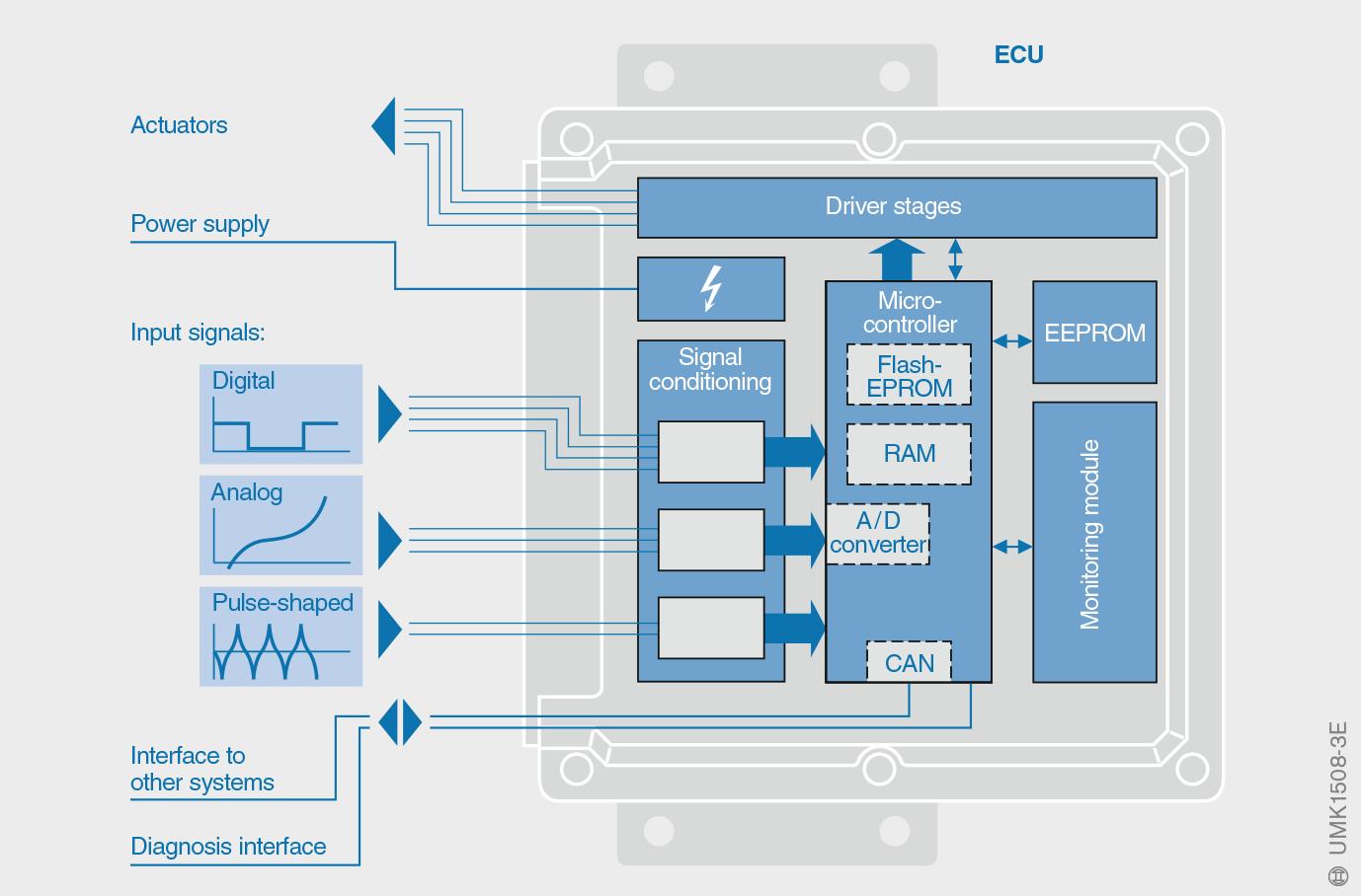 Signal processing in the ECU [1].