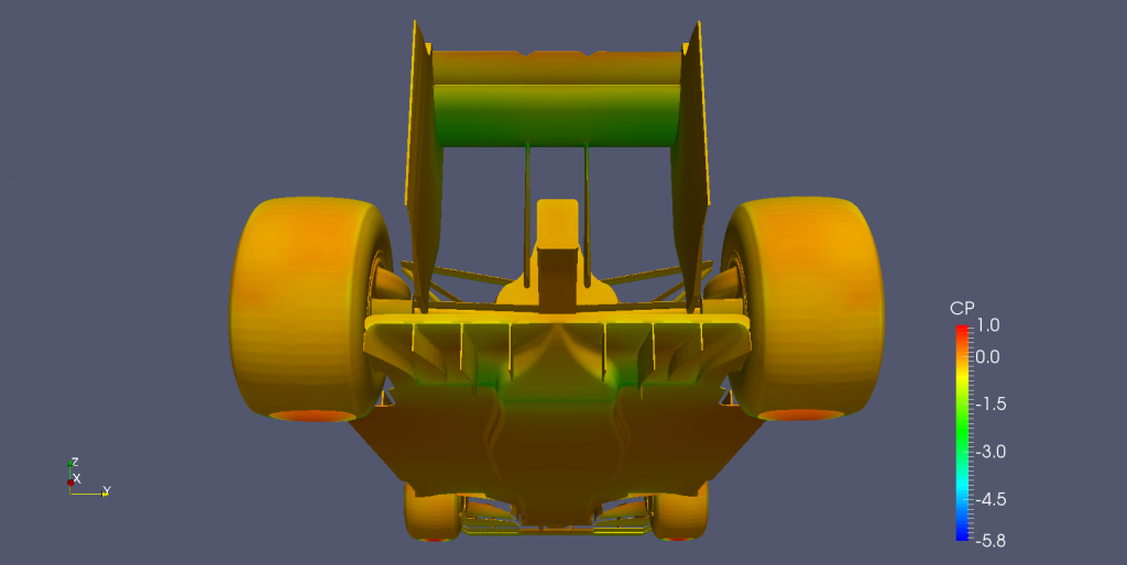 Rear-bottom view of Perrinn's Open Source F1.