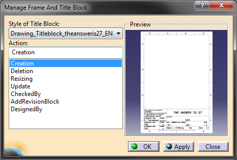 Understanding the title block macro in CATIA V5 - The Answer