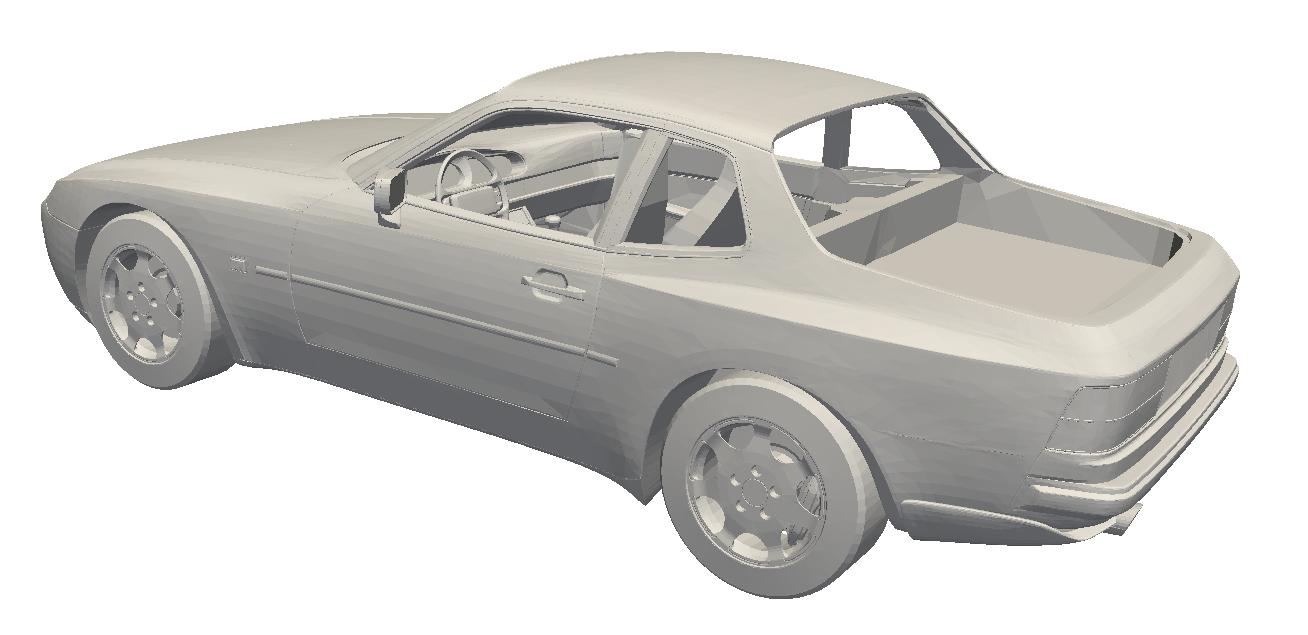 porsche 944 3D model